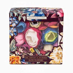 Heathcote & Ivory The Artist's Journey Fleurs de bain romantiques dans une boîte cadeau 70 g