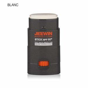JEEWIN Stick Protecteur Solaire Visage et Lèvres SPF50+ Blanc 12 g BLANC