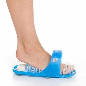 JSANSUI Kit Clous Polygel Massage Plastique Chaussons de Bain Chaussures Brosse Pierre Ponce Supprimer Morte Peau Soins des Pieds Outil for Le Soin des Pieds (2 PCS)
