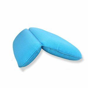 KDOAE Bain Oreiller Ergonomique Coussin Baignoire Ménage Baignoire Oreiller Coussin de Bain Oreiller Doux Bain d'oreiller de Baignoire Neck Pillow Respirant Home Spa (Color : Blue, Size : 29 x 37cm)