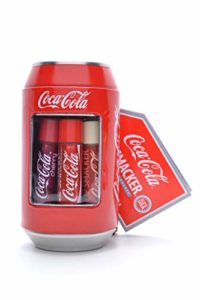 LIP SMACKER Coffret Métal Cannette avec 6 Baumes à Lèvres Coca-Cola Parfums Assortis