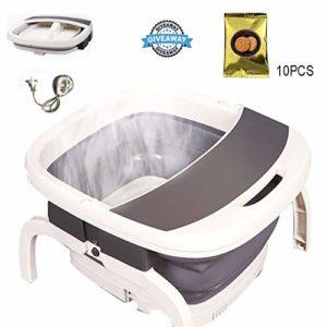 LLCA Bassin pour Pieds Bain de Pieds Pliable Seau Portable pour Le Trempage des Pieds Pédicure Spa Massage des Pieds Baril de Pédicure Style 2