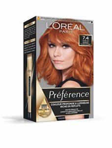 L'Oréal Paris Préférence Coloration Permanente Cheveux, Nuance : Dublin Mango (7.4), Cuivré Intense