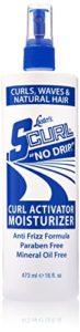 Luster's Brillantine S-Curl No Drip Activateur Hydratant pour Cheveux Bouclés Ondulés et Naturels à la Vitamine B5 473ml