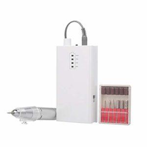 Manucure Electrique3000rpm électrique Nail Drill Machine Kit Nail Set Polisseuse sans Fil Rechargeable de Maquillage Portable manucure avec Bits Ongles