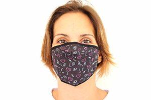 Masque Anti-éclaboussures. Taille Adulte. 50 lavages. Technologie monocouche de dernière génération. (Lèvres et Cils)