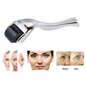 Microneedle Derma Roller,0.5mm,540 Micro Needle Roller,pour Stimule Repousse Cheveux/Pousse Barbe,réduit La Perte De Cheveux,Visage Soin De La Peau,Argent,3.00mm