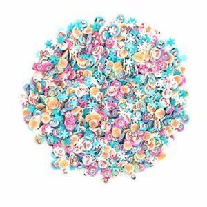 Minkissy 3000pcs noël 3d nail art tranches d'argile polymère flocons de neige santa claus elk nail art astuces décoration ongles autocollants pour coller au slime et nail art