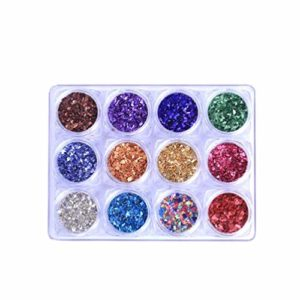 Minkissy ongles paillettes ongles scintille astuces décoration nail art stickers pour ongles et ongles conceptions manucure magasin 12 couleurs