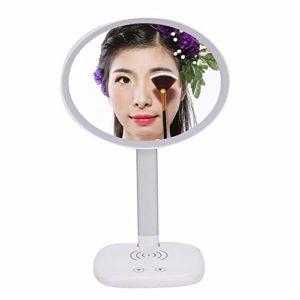Miroir de lumière de remplissage réglable de luminosité de miroir de maquillage LED portable de chargement sans fil