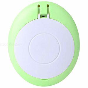 Miroir de maquillage Vanity Portable USB de charge Cils Manucure Sèche-ongles Ventilateur avec miroir de maquillage multifonction de poche Mini ventilateur Parfait pour une chambre ou salle de bains V