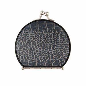 Miroir de poche pour filles en peau de crocodile imprimée à la mode