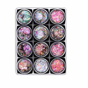 Nail Glitter Sequin Fairy Eye Net Maquillage Pour Les Yeux Rouges Étoiles Lune Patch Pour Les Ongles Maquillage Pour Les Yeux Gel Crème Paillettes (couleur Vive)