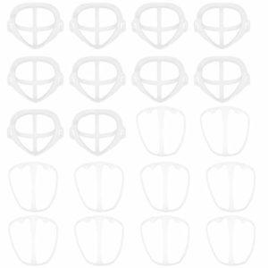 Nbrand 20 Pcs 3D Support De Couverture De Visage Couvre-Bouche Imperméable À l'eau Cadre De Support Intérieur Maquillage Rouge À Lèvres Protection Support De Support Coussin Nasal