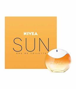 NIVEA SUN Eau de Toilette (1 x 30 ml) au parfum original de la crème solaire NIVEA SUN, Parfum femme estival dans un flacon iconique, fragrance NIVEA SUN sensuelle qui rappelle l'été