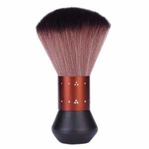 Noblik Strass Cou Visage Plumeau Barbe Brosse Barbier Nettoyage des Cheveux Brosse à Cheveux Salon Coupe Coiffure Style Outils de Maquillage