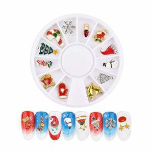 Noël Décoration d'ongles Maquillage visage corps cheveux décoration des ongles