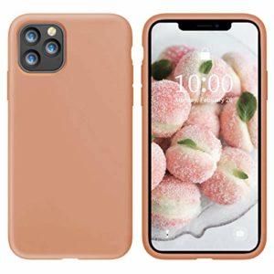 Oihxse Silicone TPU Gommage Case Compatible pour iPhone 12 2020 (5.4») Coque Ultra Fine Souple Protection Housse Mignon Couleurs Bumper Étui Anti-Rayures Cover(Orange)