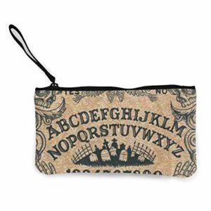 Ouija Board Spirit Talking Divination Board Croix Yeux Tomb Gothique Cosmétique Sac à Changement de Poche avec Fermeture Éclair