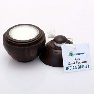 Parfum Indien Naturel De Beauté Parfum Solide Corps Musc Cire Naturelle Dans Une Mini Boîte En Bois Pour Hommes Et Femmes – 6 Grammes