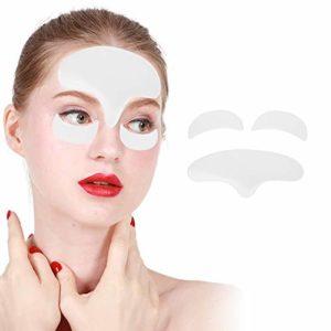 Patch anti-rides pour le front, coussinets anti-rides en silicone réutilisables Patchs anti-âge pour le levage et le resserrement de la peau du visage et des yeux