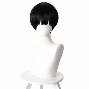 Perruque Hanako-kun Yugi Amane liée aux toilettes 30 cm cheveux synthétiques courts et droits résistants à la chaleur pour homme garçons perruque noire Anime fêteYugi Amane perruque
