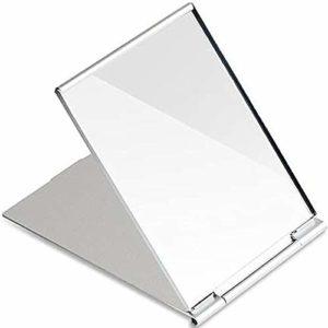 Petit miroir de poche pliable portable, Miroir de maquillage de bureau,miroir de voyage,pour camping et maquillage, facile à transporter.