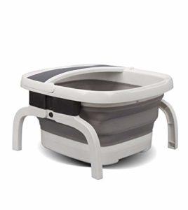 Portable électrique Bain de pieds,Bain de pieds massant Avec des bulles de chaleur,Infrarouge Thérapeutiques Compression Pédicure Économiser l'espace Baignoire de spa de pieds-A