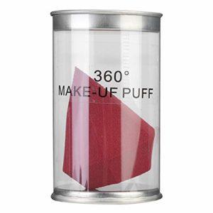 Puff en poudre lavable à double usage humide et sec, bouffée de poudre facile à contrôler, amateurs de maquillage doux et doux pour la peau pour les maquilleurs(Red wine)