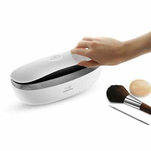 RHSMSS Smart LED Désinfection UV Boîte, Outils en Plastique Métal Nail Portable Brosse À Dents Et Pinceau De Maquillage De Beauté Set Dispositif De Désinfection,Blanc