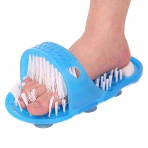Ritapreaty Plastic Shoe Shoe – Pantoufles de Masseur pour Pinceau de Douche pour Ponce des Pieds – Brosses pour récurer Les Pieds sur Pierre