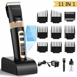 ShuBel tondeuse cheveux, tondeuse pour homme professionnelle életrique 11 en 1 tondeuse homme multifonction Rasage, épilation, recharge sans fil