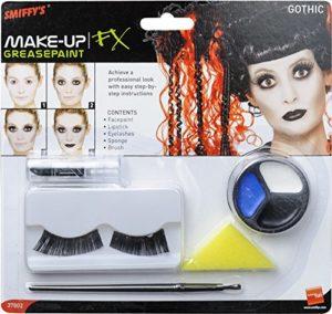 Smiffys Kit de maquillage gothique, comprend peinture du visage, rouge à lèvres et cils