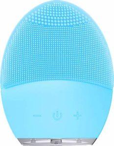Sonic Nettoyant visage anti-âge avec fonction de mémoire, minuterie et silicone extra doux pour le visage et le gommage (Mise à niveau) (Bleu)