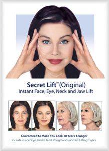 Soulage instantané du visage, du cou et des yeux (cheveux foncés et clairs)
