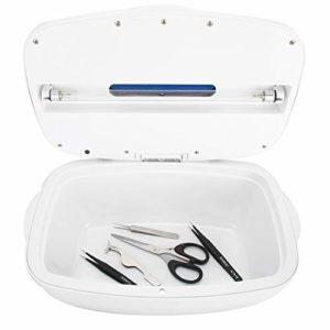 Stérilisateur UV, Dispositif de Désinfection à LED, Boîte de Désinfection de Beauté, Outil de Nettoyage de Boîte de Désinfection à Lumière Ultraviolette pour Pince à Ongles, Pince à épiler(EU)
