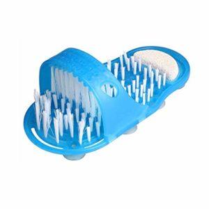 Sue-Supply Salle de Bains Douche Pieds Pieds Laveur Douche Pieds Brosse Pieds Nettoyage Poils Pantoufles Bain Laveur Masseur Facile Nettoyage Brosse Anti-Slip