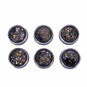 SUPVOX Strass Nail Art Artisanat en Cristal Ongles manucure multishape Perles pour la beauté des Ongles