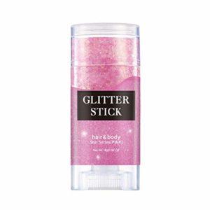 Symeas 16g bâton de paillettes métalliques brillant crème brillante étoile paillettes holographique corps Glitter Gel pour festival fête cheveux et corps maquillage
