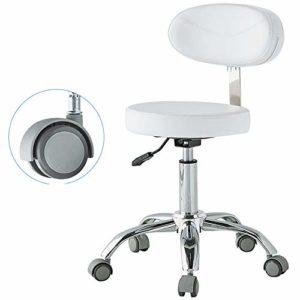 Tabouret de Salon Technicien Dentiste Ascenseur Manucure Tatouage Selle Coiffure Chaise de Chirurgie Salon de beauté des Cheveux (Color : White, Size : B)