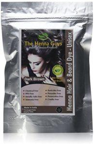 The Henna Guys – Teinture Henné Cheveux et Barbe – Marron foncé – 150 grammes