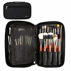 Trousse à maquillage de voyage et kit de maquillage, trousse professionnelle à deux compartiments, multifonctionnelle, organiseur à deux compartiments
