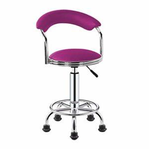 WGZ- Coiffure Tabouret, Tabouret Pulley spéciaux for les salons de beauté, salons de coiffure coiffure, manucure, coupe Rotating Tabouret cheveux (Color : Purple)