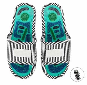 Wincal Pantoufles de Massage-Pied Chaussons d'acupoint Acupoint thérapie magnétique Pantoufles de Massage Soins des Pieds sains Masseur Aimant Chaussures(Male)