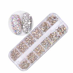 YBDZ 12 boîtes/Set de Bijou de Diamant Strass Cristal AB Ongles pailleté 3D beauté Art décoration (Color : 1)
