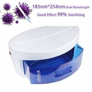 YYEWA Boîte de désinfection ultraviolette, boîte de stérilisation d'art d'ongle Cabinet de désinfection à l'ozone UV Rayon Ultraviolet pour la Vaisselle de Brosse de Maquillage d'ongle