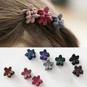 ZHU ZHU 50 pcs filles mignonne gommage fleur mini épingle à cheveux en livraison de couleur aléatoire ZHU