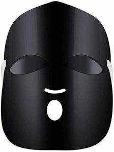 ZYQ Masque de Beaute LED 3 Couleurs Masque Elimine L'acnE Equilibre Eau et Huile Peau Blanche Pigment Eclaircissant Lissage des Rides Raffermissant La Peau,Noir