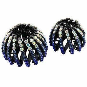 1 pièce Scunci Beauté Queue de Cheval Chignon Donut Chignon Titulaire Queue de Cheval Maker avec Bling Diamant Hairwear