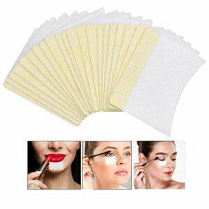 100 Pièces Patch Maquillage Yeux, Adhésifs Patch Fard à Paupières,Tampons D'extension de Cils Pour Extensions pour Les Extensions de Cils, Maquillage des Lèvres